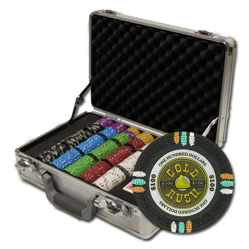 300Ct Claysmith Gaming Gold Rush Poker Chip Set in Claysmith