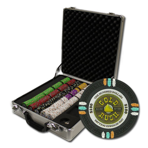 500Ct Claysmith Gold Rush Poker Chip Set in Claysmith Gaming