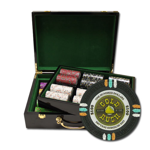 500Ct Claysmith Gaming Gold Rush Poker Chip Set in Hi Gloss Case