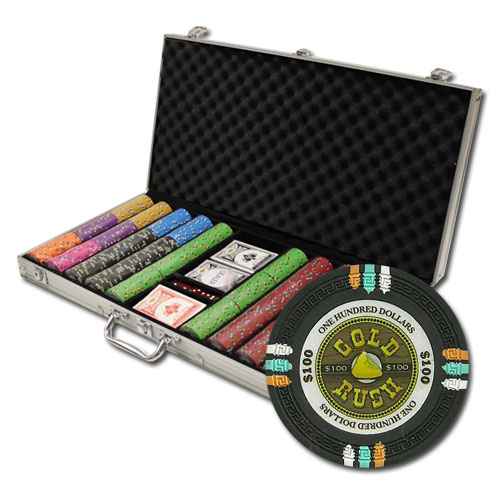 750Ct Claysmith Gaming Gold Rush Poker Chip Set in Aluminum Case