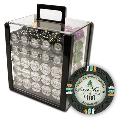 1000Ct Claysmith Gaming Bluff Canyon Poker Chip Set in Acrylic