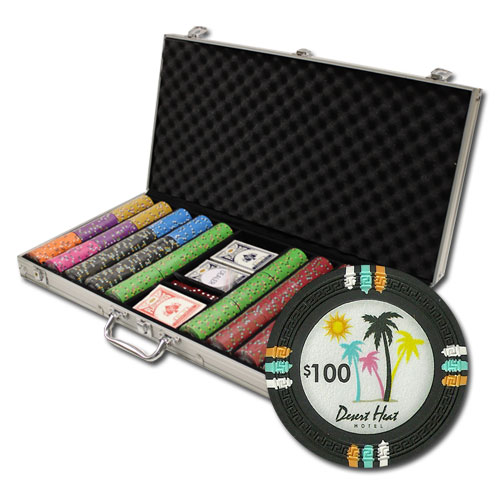 750Ct Custom Claysmith Desert Heat Poker Chip Set in Aluminum