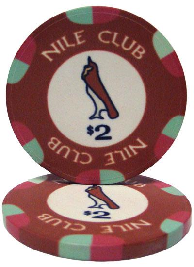 $2 Nile Club 10 Gram Ceramic Poker Chip