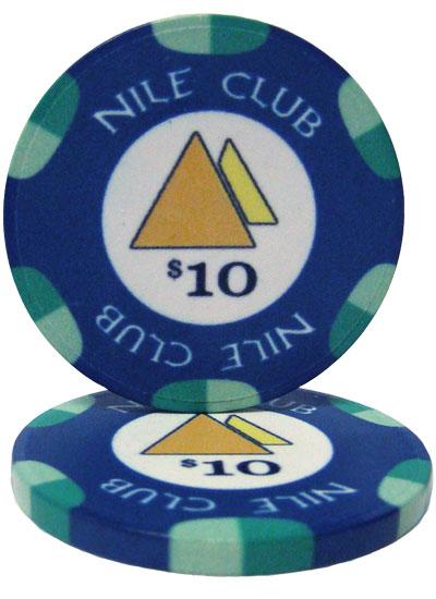 $10 Nile Club 10 Gram Ceramic Poker Chip