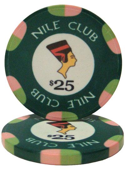 $25 Nile Club 10 Gram Ceramic Poker Chip