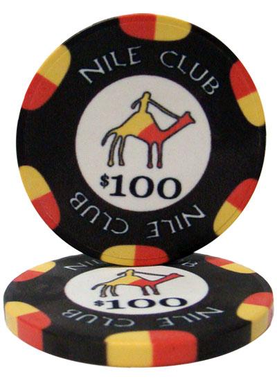 $100 Nile Club 10 Gram Ceramic Poker Chip