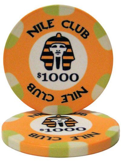 $1000 Nile Club 10 Gram Ceramic Poker Chip