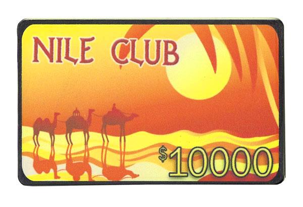 $10,000 Nile Club 40 Gram Ceramic Poker Plaque