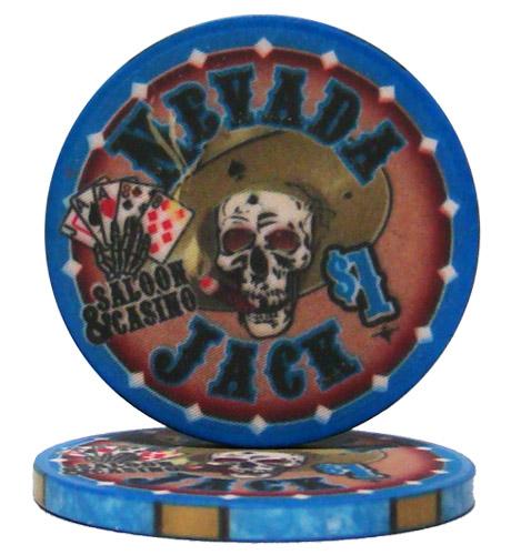 $1 Nevada Jack 10 Gram Ceramic Poker Chip