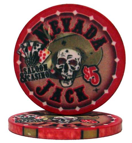 $5 Nevada Jack 10 Gram Ceramic Poker Chip