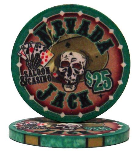 $25 Nevada Jack 10 Gram Ceramic Poker Chip