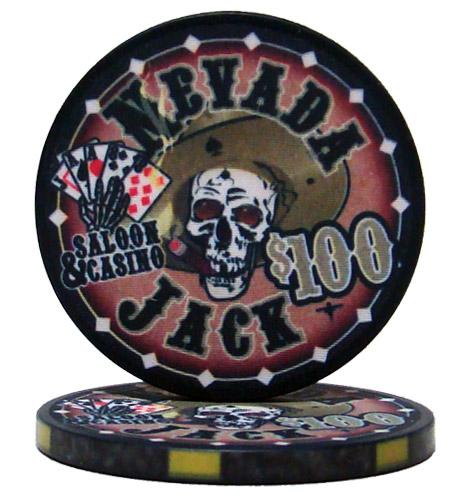 $100 Nevada Jack 10 Gram Ceramic Poker Chip