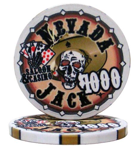 $1000 Nevada Jack 10 Gram Ceramic Poker Chip
