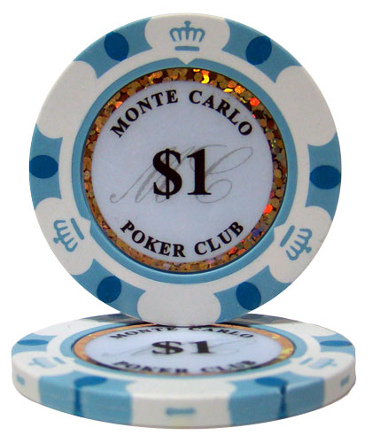 $1 Monte Carlo 14 Gram Poker Chips
