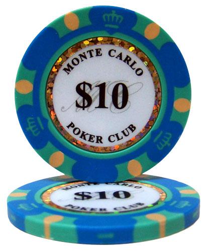 $10 Monte Carlo 14 Gram Poker Chips