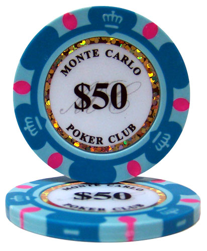$50 Monte Carlo 14 Gram Poker Chips