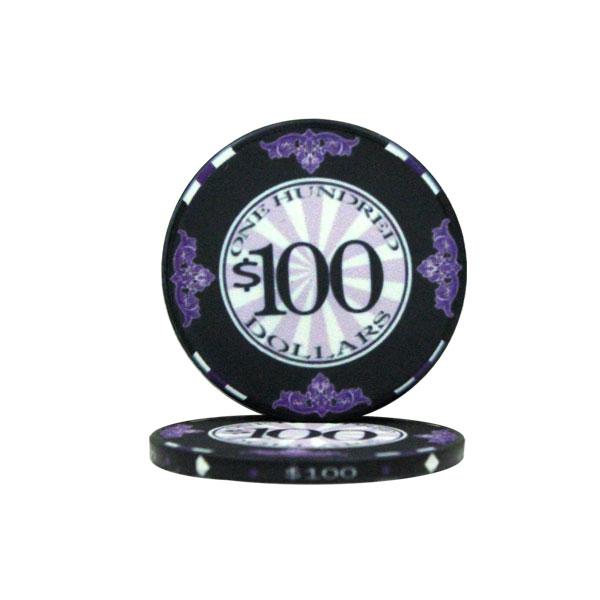 $100 Scroll 10 Gram Ceramic Poker Chip