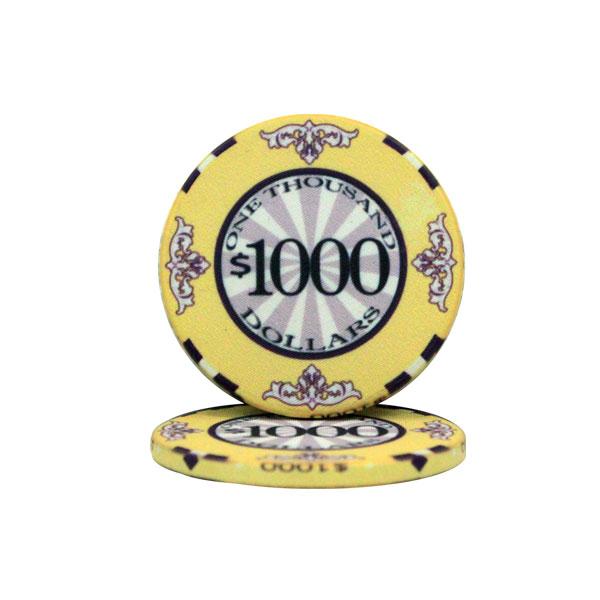 $1000 Scroll 10 Gram Ceramic Poker Chip