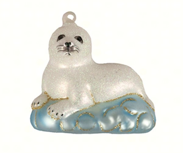 Baby Harp Seal Ornament