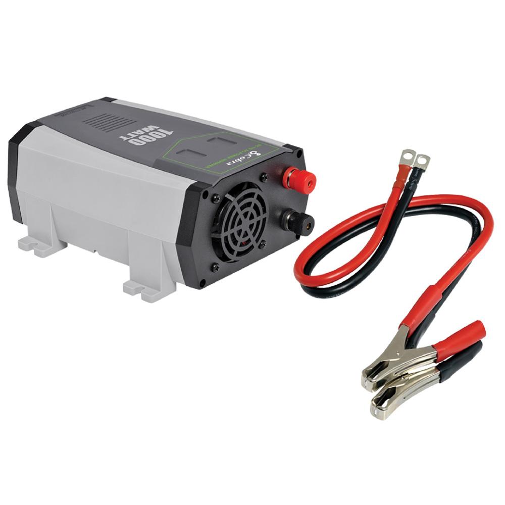 Cobra CPI1090 2.1A USB 12-Volt DC to 120-Volt AC Power Inverter (1,000 Watts)