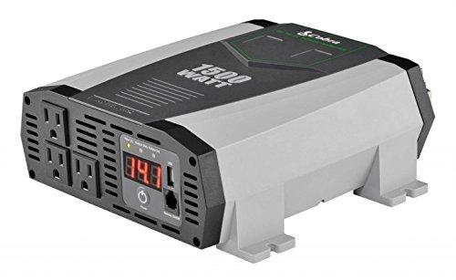 COBRA CPI1590 1500/3000 WATT POWER INVERTER WITH 3 AC OUTLETS & 5V 2.1A USB PORT BATTERY VOLT/WATT LED DISPLAY
