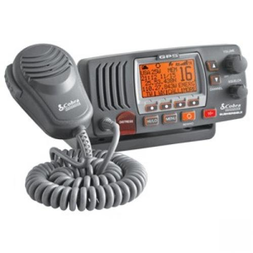 COBRA MRF77BGPS CLASS D 25 WATT IPX8/JIS8 SUBMERSIBLE VHF MARINE RADIO WITH GPS - IN GREY