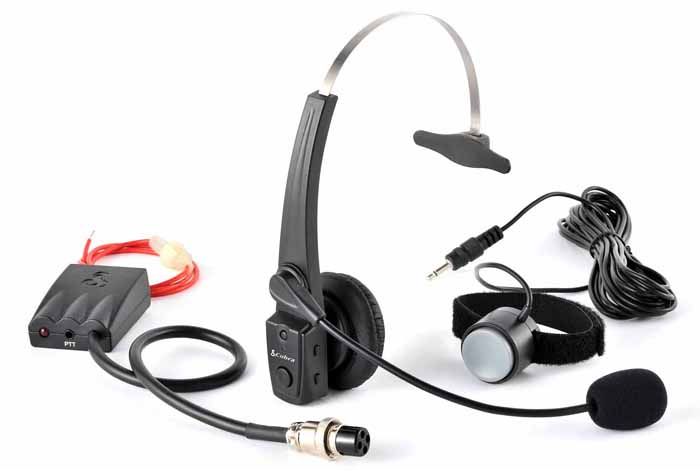 BLUETOOTH HEADSET FOR 4 PIN COBRA RADIOS