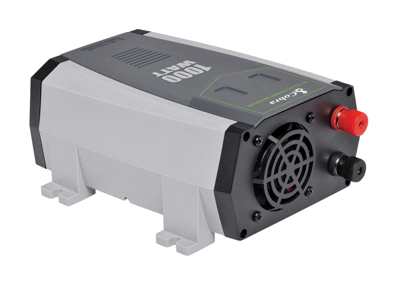 COBRA CPI1090 1000 - 2000 WATT MODIFIED SINEWAVE POWER INVERTER WITH 2 GROUNDED AC OUTLETS - INCLUDES BATTERY CABLES