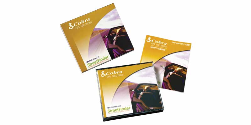 COBRA GPS SOLUTIONS SOFTWARE-4 CD W/CASE