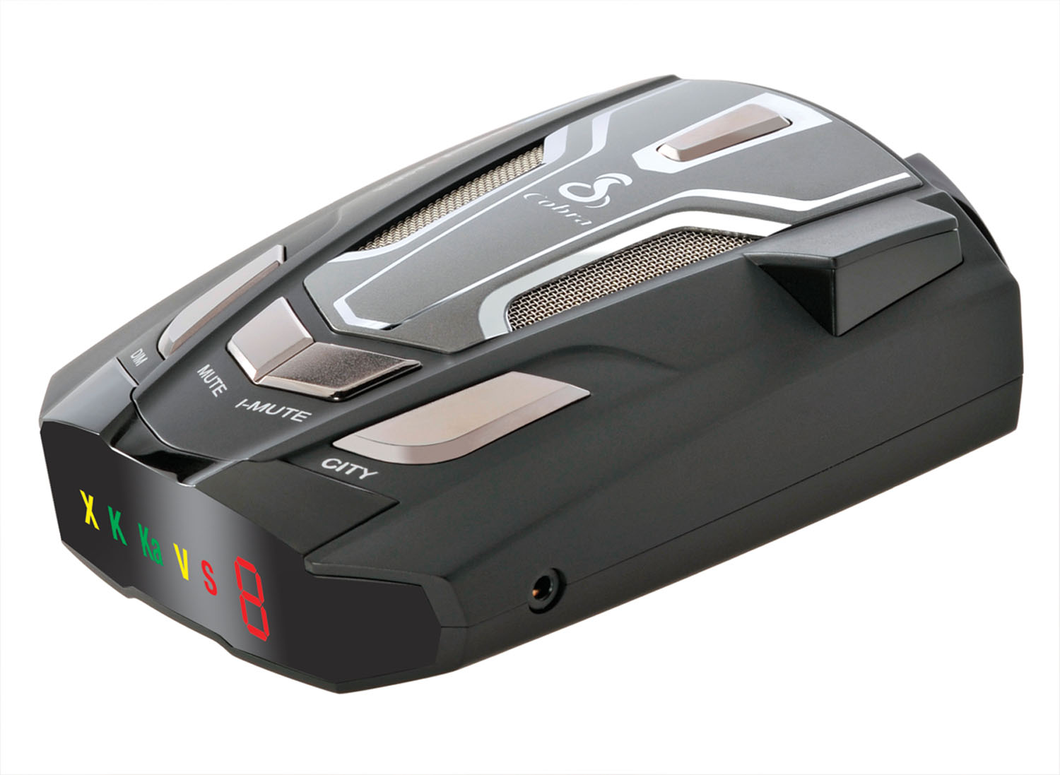 COBRA - 14 BAND ULTRA-HIGH PERFORMANCE RADAR/LASER DETECTOR WITH ULTRA BRIGHT DATA DISPAY & VOICE/TONE ALERT, VG2/SPECTRE, SAFET