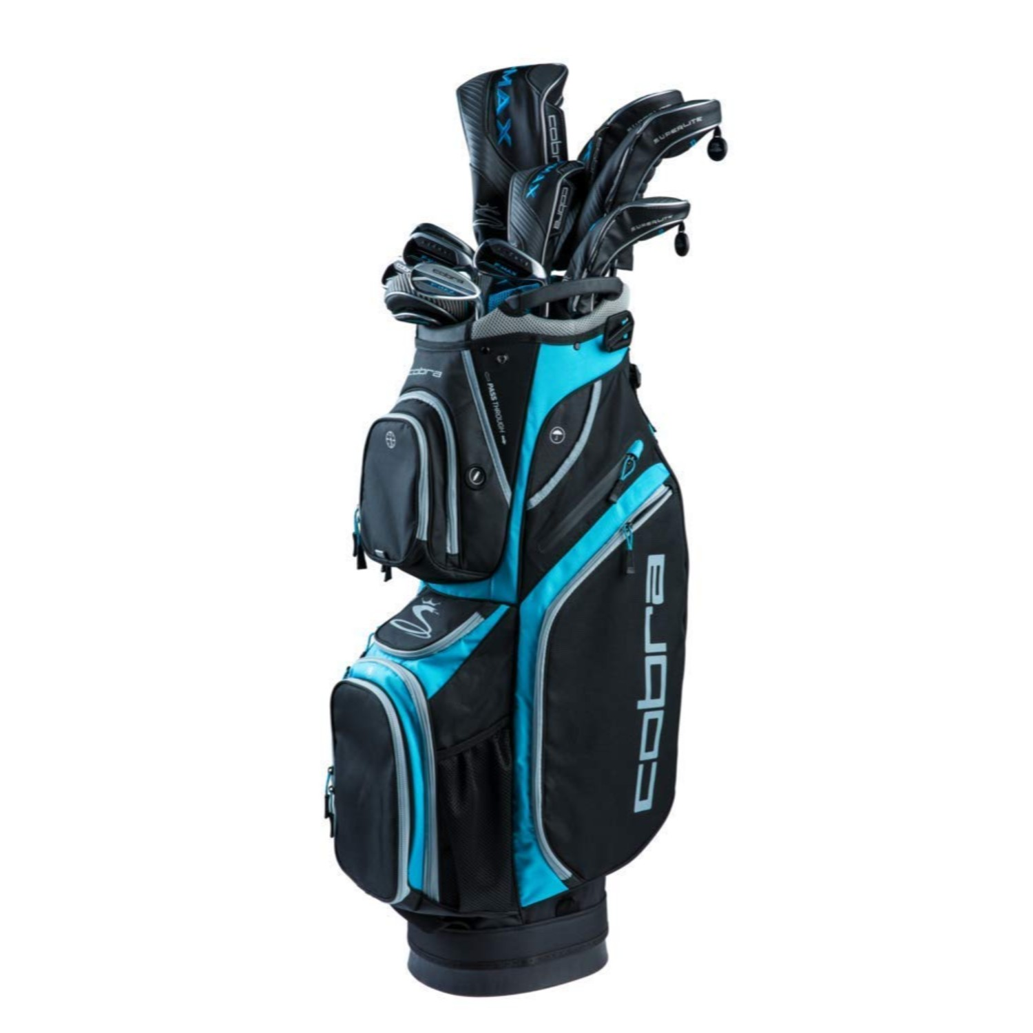 Cobra Golf Womens F-Max Superlite Complete Set Black-Blue RH