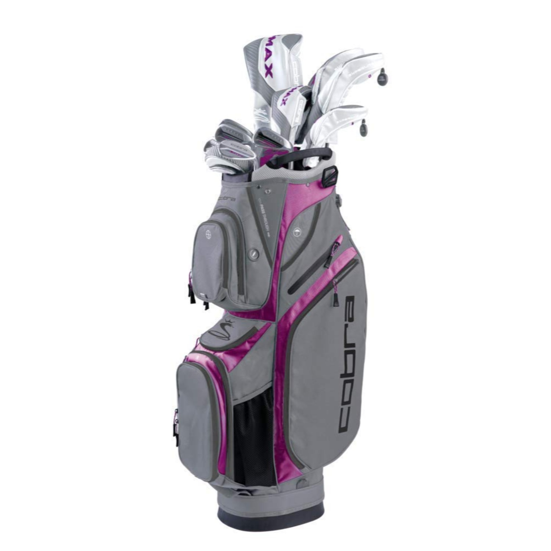 Cobra Golf Womens F-Max Superlite Complete Set Wht-Purple RH