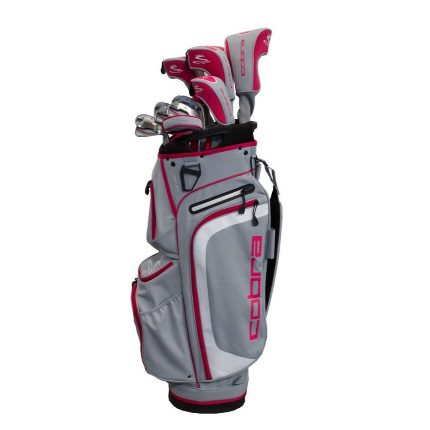 Cobra Golf Women's XL Complete Set Silver-Raspberry RH