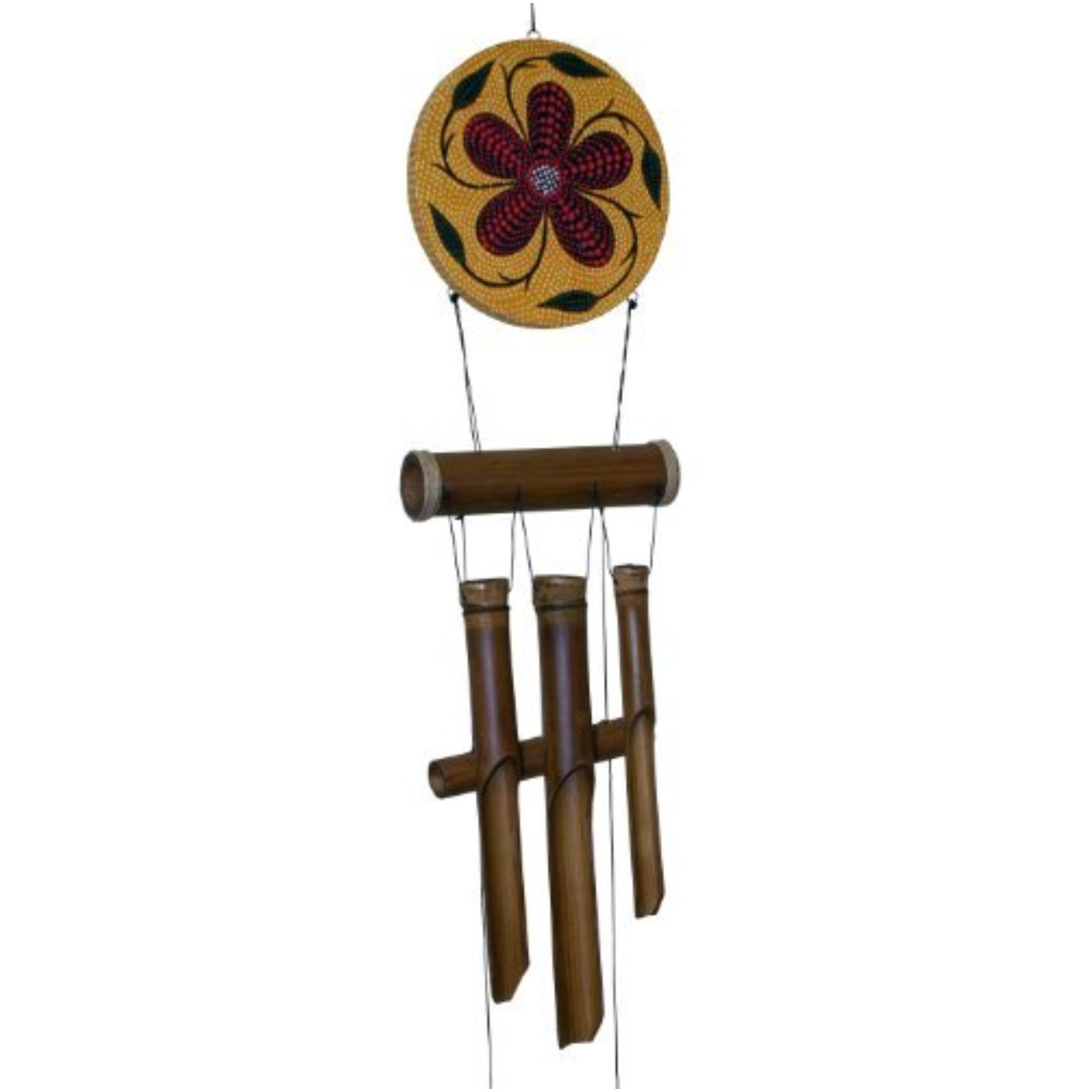 Red Flower Harmony Dots Chime