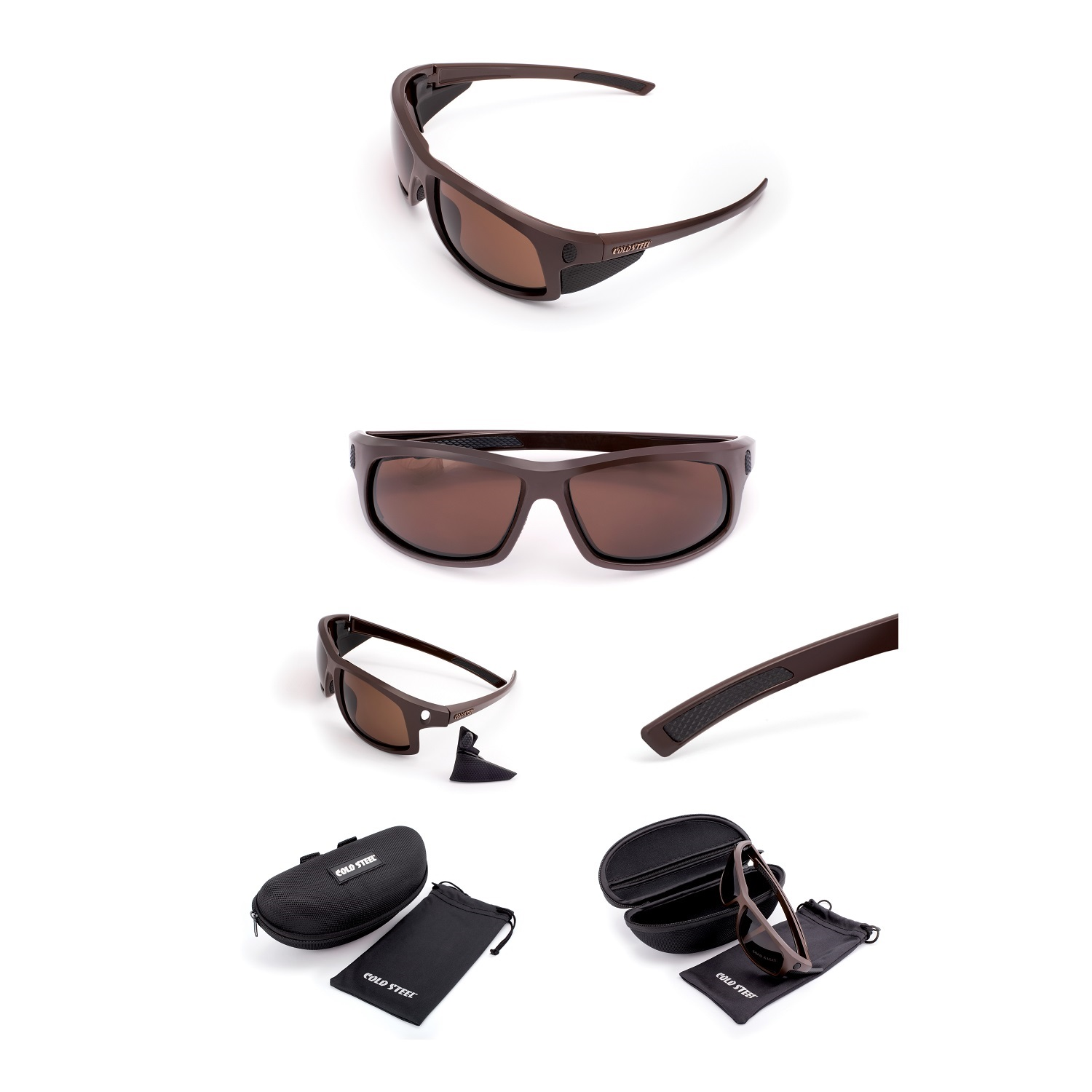Battle Shades Mark I, Dark Matte Brown, Brown Lens
