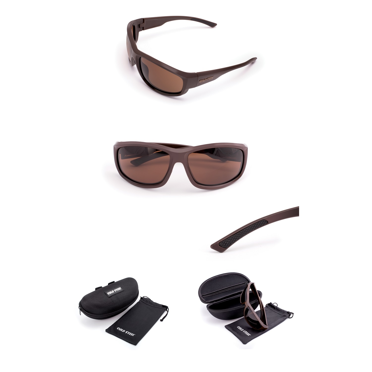 Battle Shades Mark II, Dark Matte Brown, Brown Lens