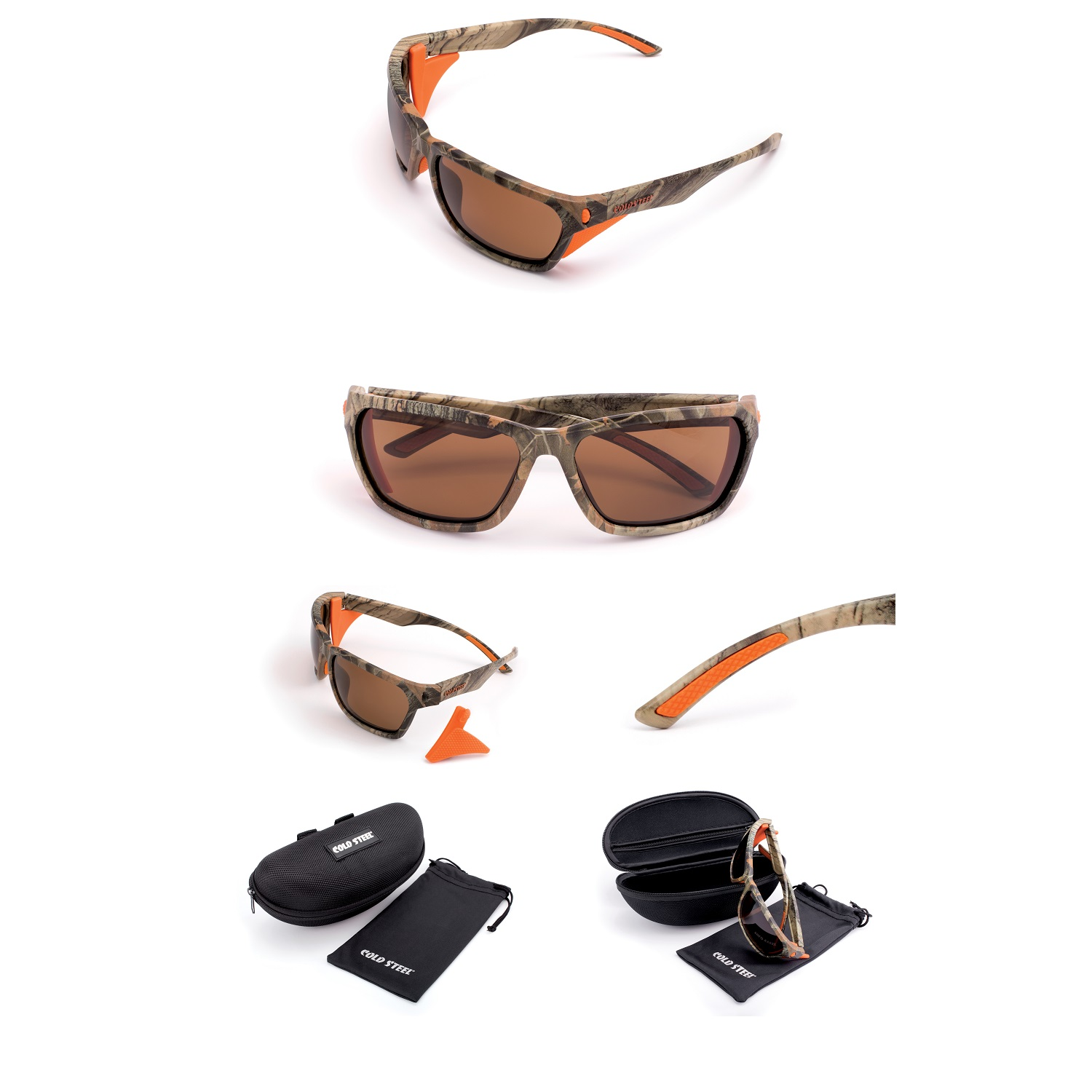 Battle Shades Mark III, Cammo Frame, Brown Polarized Lens