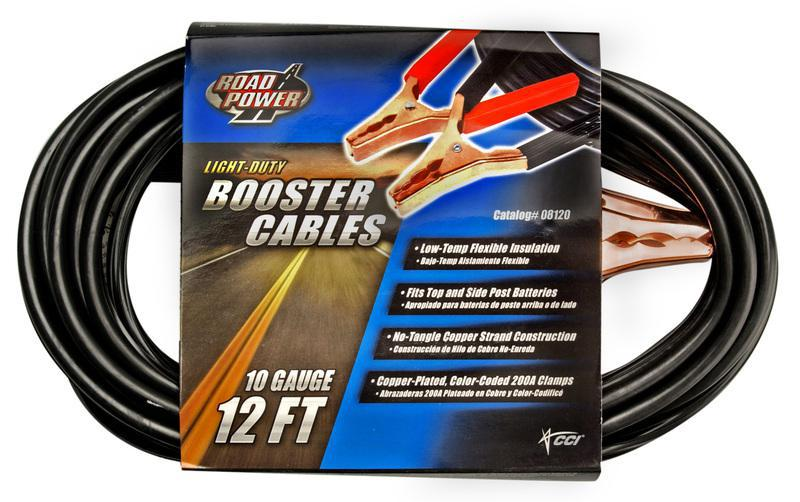 12FT 10GA BOOSTER CABLES