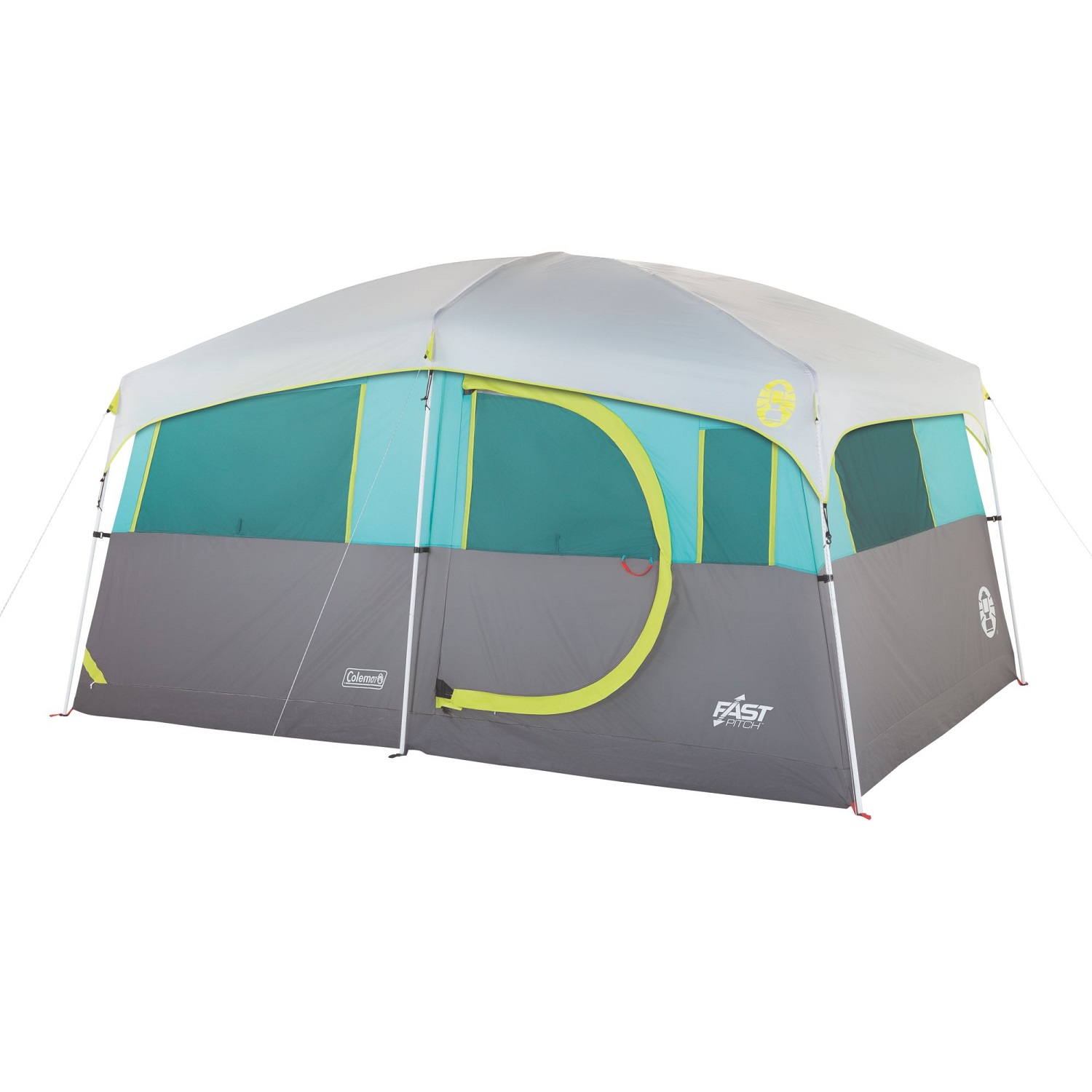 15a94d64af4 Coleman Tenaya Lake 8 Person Lighted Cabin Tent - Teal/Gray 2000029969