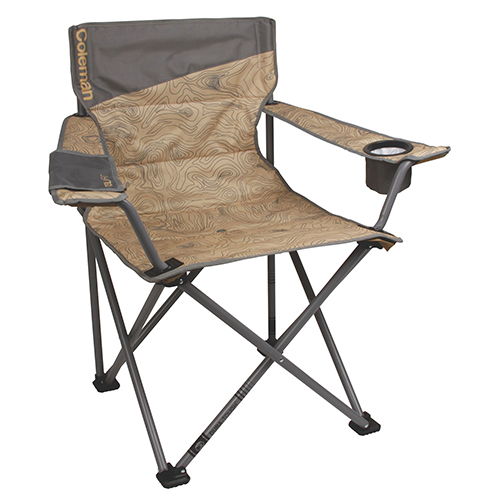 Chair Quad Oversized Topo Print