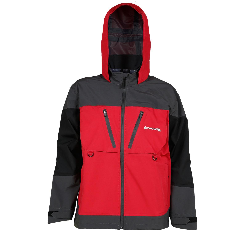 Compass 360 D300 HydroTek Rain Parka-Red/Black/Slate-LG