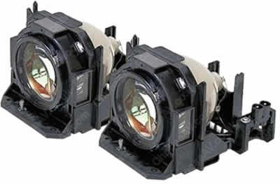 PT-D5000 Panasonic Twin-Pack Projector Lamp Replacement (contains two lamps). Projector Lamp Assembly with High Quality OEM Com