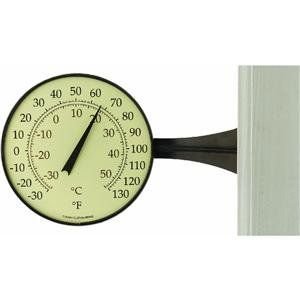 Large Dial Thermometer Bronze Patina Finish