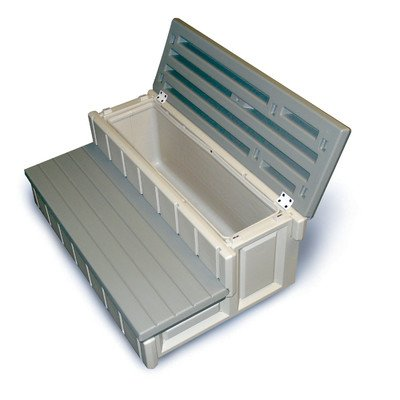 "Spa Steps, Deluxe Storage, 36"" Wide, Gray"