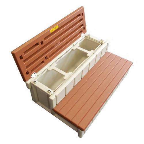 "Steps, Confer, Deluxe Storage, 36""Wide, Redwood"