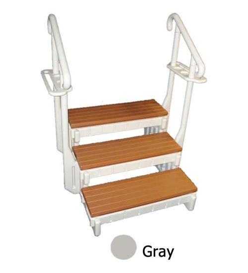 "Steps, Confer, Gray w/Hand Rails, 36""Width, 3 Stairs"