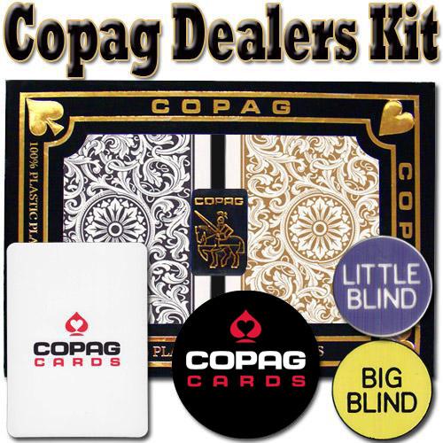 Copag Dealer Kit - 1546 Black/Gold Bridge Regular