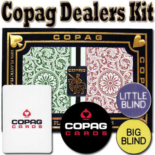 Copag Dealer Kit - 1546 Green/Burgundy Bridge Jumbo