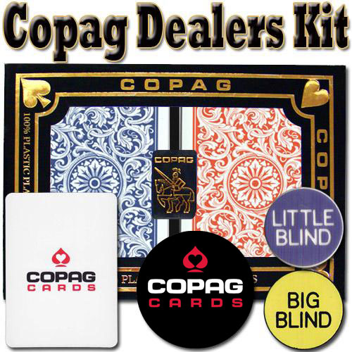 Copag Dealer Kit - 1546 Red/Blue Bridge Jumbo
