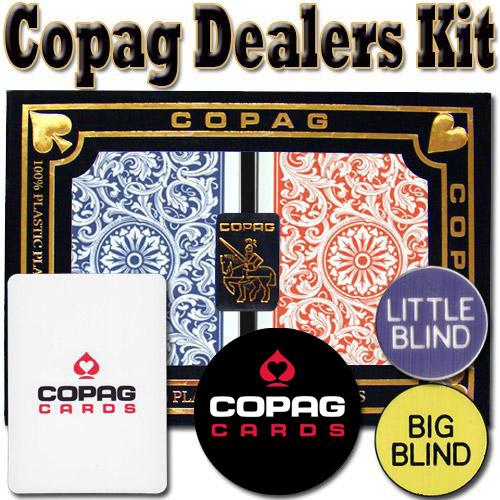 Copag Dealer Kit - 1546 Red/Blue Bridge Regular